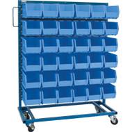 """CB650 Racks BLUE Bins 36""""Wx16""""Dx52""""H"""