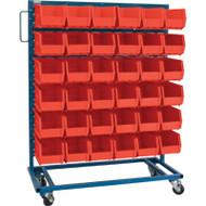"CB651 Racks RED Bins 36""Wx16""Dx52""H"
