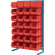 "CB655 Racks RED Bins 36""Wx12""Dx61""H"
