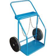 """ML415 Gas Cylinder Carts 14"""" semi-pneu 25""""Wx13""""D"""