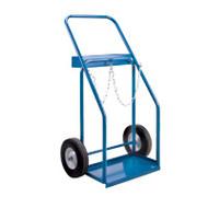 """ML417 Gas Cylinder Carts 10"""" semi-pneu 19""""Wx10""""D"""
