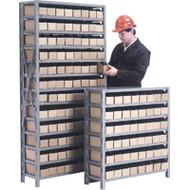 "CF054 Shelving (w/96 RED plastic bins) 36""Wx12""Dx76""H"