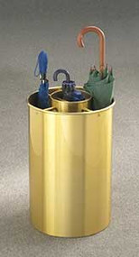 Aluminum Combination Umbrella Bucket 173-601 - Satin Brass Finish