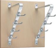 Wooden Wall-Mounted Vertical Coat Hook Rack 263-207