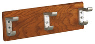 Wooden Wall-Mounted Coat Hook Panel with Unbreakable Hooks 150-810 - Multiple Sizes and Finishes