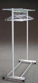 Rolling Aluminum Coat Rack with Single Hanger Bar  179-830 - Multiple Sizes