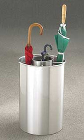 Aluminum Combination Umbrella Bucket 173-600 - Satin Aluminum Finish