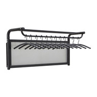 Wall Mounted Coat Rack with 12 Hangers 205-018 - Black