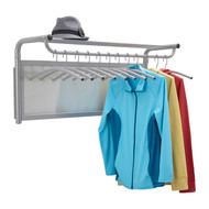 Wall Mounted Coat Rack with 12 Hangers 205-020  - Silver