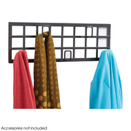 Steel Grid Wall Mounted Coat Rack 205-022 - Black