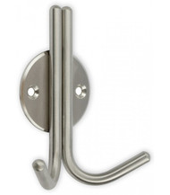 Brushed Stainless Steel Double Prong Coat Hook 241-752