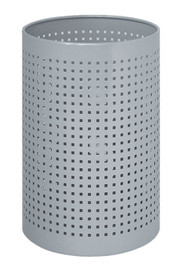 Perforated Steel Tote Umbrella Bucket 262-222 - Silver