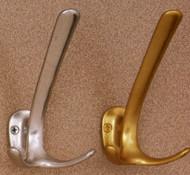 Aluminum Coat Hook 196-280 - Gold or Silver Finish