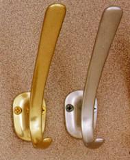 Aluminum Coat Hook 196-284 - Gold or Silver Finish