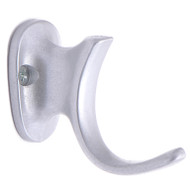 Aluminum Coat Hook 196-286 - Gold or Silver Finish