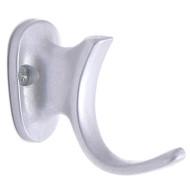 Aluminum Single Prong Coat Hook 196-286 - Gold or Silver Finish