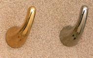 Brass Single Prong Coat Hook 196-272 - Multiple Finish Options