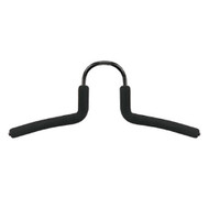 Metal Coat Hanger with Rubberized Sleeve 262-211 - Black