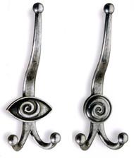 Zinc Triple Prong Coat Hook 241-218 - Antique Silver Finish