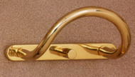 Brass Coat Hook with Coat Hanger Knob 196-264 - Multiple Finishes