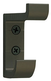 Heavy Duty Aluminum Double Prong Coat Hook 154-102 - Antique Brass