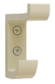 Heavy Duty Aluminum Double Prong Coat Hook 154-101 - Almond