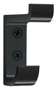 Heavy Duty Aluminum Double Prong Coat Hook 154-103 - Black