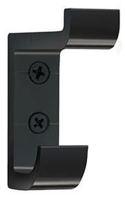 Heavy Duty Aluminum Double Prong Coat Hook 154-103 - Black
