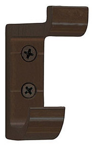 Heavy Duty Aluminum Double Prong Coat Hook 154-104 - Dark Brown
