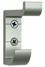 Heavy Duty Aluminum Double Prong Coat Hook 154-105 - Silver