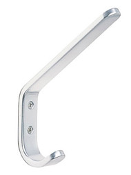 Aluminum Double Prong Coat Hook 230-201 - Anodized Silver, Chrome or Bronze Finish