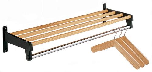 wooden wallmounted coat rack image 1