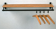 Folding Wall-Mounted Aluminum Coat Rack with Hanger Bar and Shelf 150-818 - Multiple Sizes