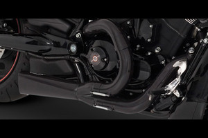 Vance & Hines Competition Series 2-Into-1 Exhaust for '02-14 V Rod Models -Black Not for Muscle