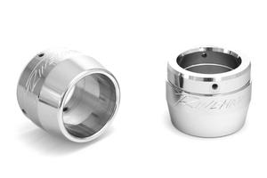 Rinehart Racing Replacement End Cap for Rinehart True Duals & FL Slip On Mufflers 3.5 Inch Chrome -Pair