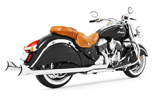 Freedom Performance Sharktail True Duals Complete System  for '14 & up Chieftain, Springfield & Roadmaster - Chrome