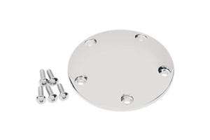 Drag Specialties Chrome Spherical Radius Point Cover for '99-Up Twin Cam (no Gasket)