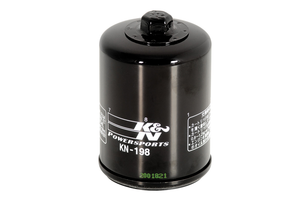 K & N Performance  Oil Filter Black KN-198 for Victory Models Each (Click for fitment)