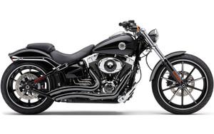 Cobra Short Swept Exhaust for '13-14 FXSB/SE Models -Black