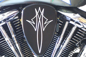 Barons Custom Big Air Kit for Vulcan 1500 Classic  '97-08 (EFI Models) Pinstripe Black