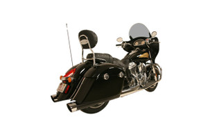 Rush WAR HORSE 4-inch Mufflers for '14-Up Chieftain, Springfield and Roadmaster Muffler and Tip Package - Black