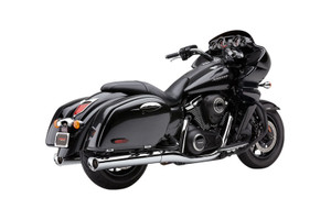 Cobra Tri-Flo Slip-on Mufflers for Nomad 1700/Voyager & Vaquero 1700 '09-Up -Chrome