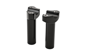 "Hard Drive Forged Handlebar Risers for 1"" Bars -4.5"" Black Straight"