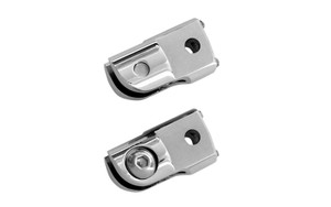 Accutronix Rear Folding Footpeg Adapters for '14 Indian Models -Chrome