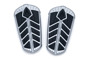 Kuryakyn Spear Passenger Floorboard Inserts  for '15-Up Indian Roadmaster & Springfield -Chrome