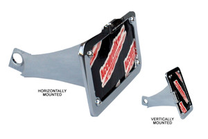 Accutronix Side-Mount License Plate Mount for Indian Scout Mounts Horizontally or Vertically Chrome