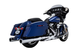 Vance & Hines  Power Duals Headers for '17-Up Harley Davidson Touring Models Chrome - 3 SETS LEFT