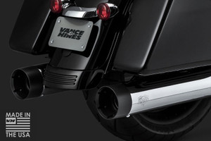 Vance & Hines  OverSized 450 TITAN Slip On Mufflers  for '17-Up Harley Davidson Touring Models   -Chrome 4.5-inch Round with Black Tips