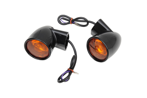 Drag Specialties Bullet-Style Rear Turn Signals for '94-Up FL Models w/ Flat Turn Signal Mounts