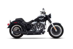 Rinehart Exhaust  2-into-1 Exhaust Systemfor Softails '86-Up -Black Ceramic